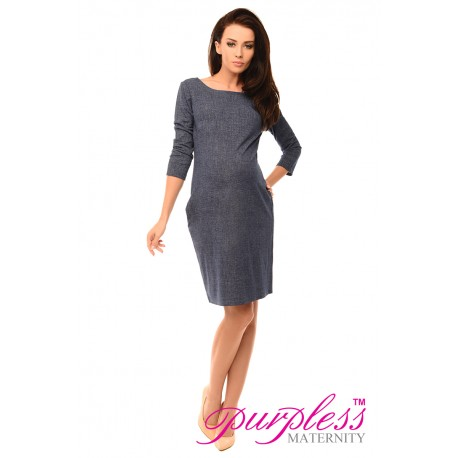 Denim Look Dress with Pockets 6100 Jeans