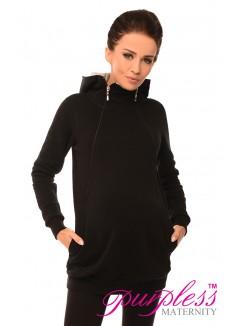 Pregnancy and Nursing Hoodie 9052 Black