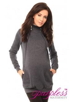 Pregnancy and Nursing Hoodie 9052 Navy Melange