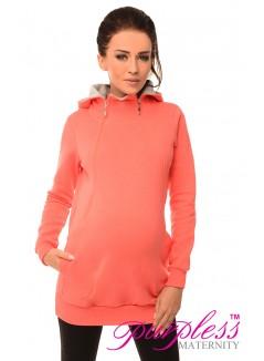 Pregnancy and Nursing Hoodie 9052 Coral