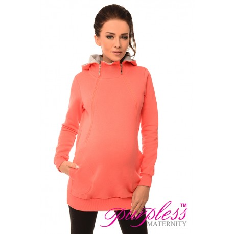 Pregnancy and Nursing Hoodie 9052 Coral