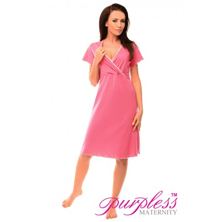 Pregnancy and Nursing Nightdress 1055n Bright Pink