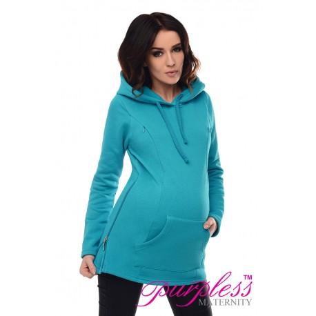 2in1 Nursing Hoodie 9050 Turquoise