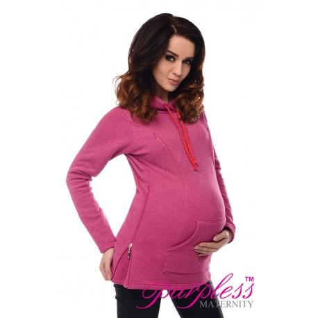 2in1 Nursing Hoodie 9050 Pink Melange