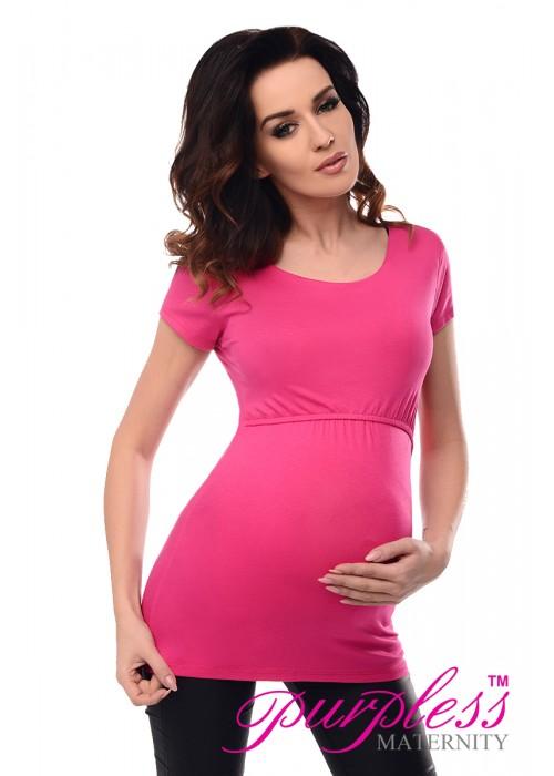 Nursing Short Sleeved Top 7020 Bright Pink