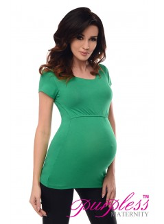 Nursing Short Sleeved Top 7020 Green