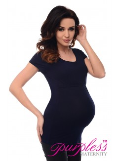 Nursing Short Sleeved Top 7020 Navy