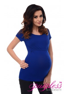 Nursing Short Sleeved Top 7020 Royal Blue