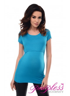 Nursing Short Sleeved Top 7020 Sky Blue