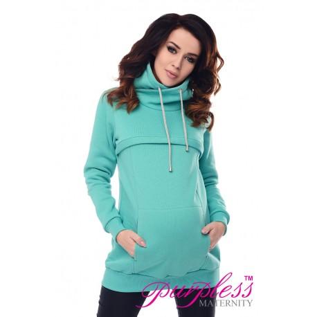 2in1 Cowl Neck Sweatshirt 9054 Mint