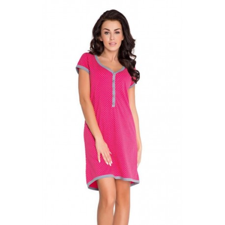 Pregnancy and Nursing Nightdress 5038n Berry
