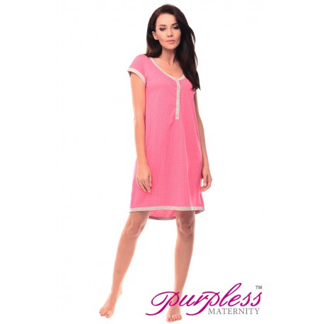 Pregnancy and Nursing Nightdress 5038n Hot Pink