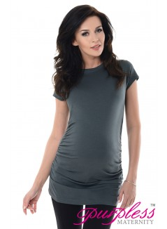 Pregnancy T-Shirt 5025 Army Gray