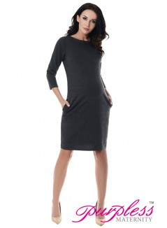 Dress with Pockets 6107 Dark Gray