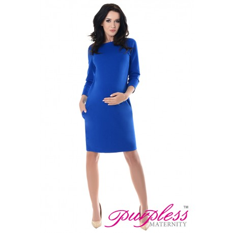 Dress with Pockets 6107 Royal Blue