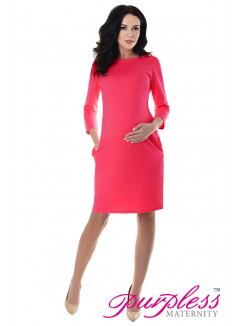 Dress with Pockets 6107 Raspberry