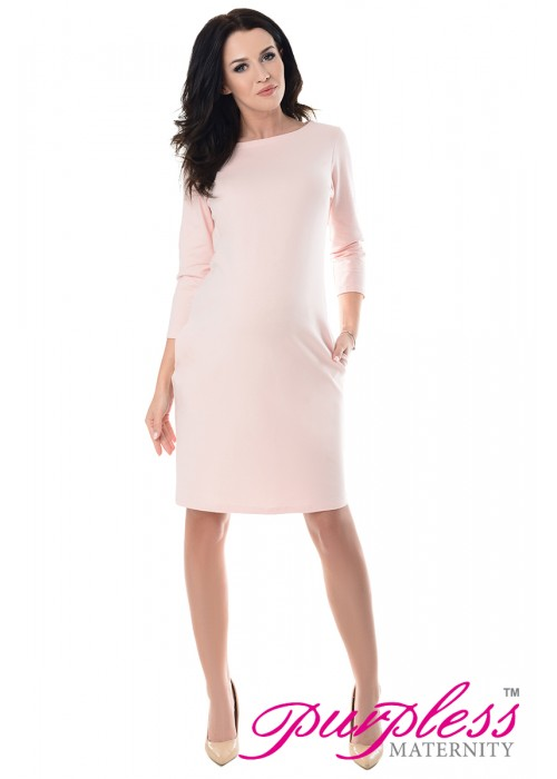 Dress with Pockets 6107 Light Pink