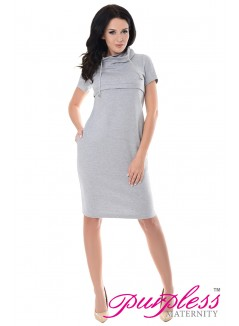 Nursing Funnel Neck Dress 6225