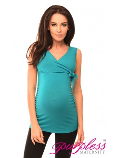 V Neck Top 5104 Turquoise