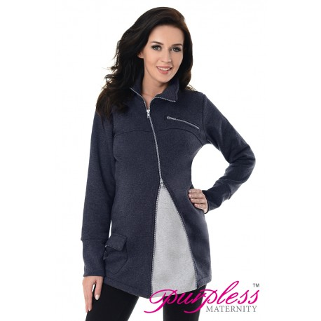 Adjustable Maternity Sweatshirt 9055 Navy Melange