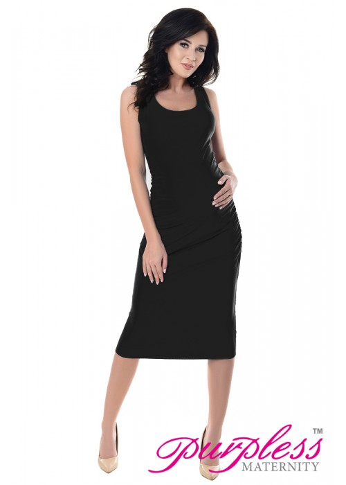 Sleeveless Jersey Midi Dress 8130 Black