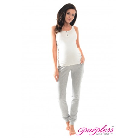 Pregnancy Trousers 1307 Light Gray Melange