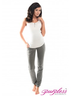 Pregnancy Trousers 1307 Dark Gray Melange