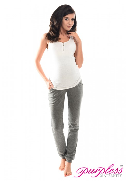 Pregnancy Trousers 1307 Dark Gray Melange