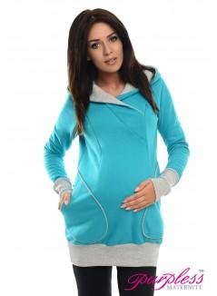 2in1 Nursing Hoodie 9056 Turquoise