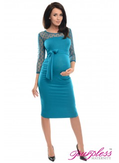 Ruched Bodycon Dress D008 Turquoise