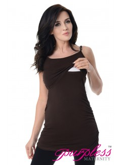 Nursing Cami Vest Top 8021 Brown