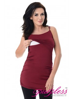 Nursing Cami Vest Top 8021 Burgundy