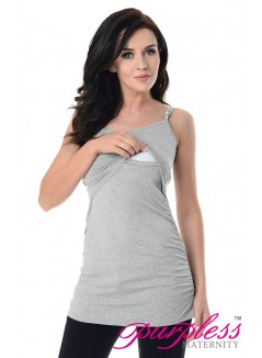 Nursing Cami Vest Top 8021 Light Gray Melange
