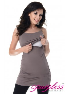 Nursing Cami Vest Top 8021 Dark Cappuccino
