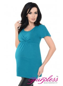 2in1 Maternity & Nursing Top 7042 Black