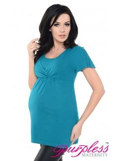 2in1 Maternity & Nursing Top 7742 Dark Turquoise