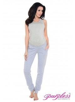 Pregnancy Trousers 1314 Light Gray Melange