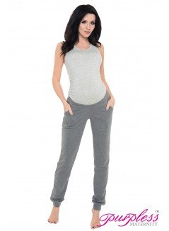 Pregnancy Trousers 1314 Dark Gray Melange