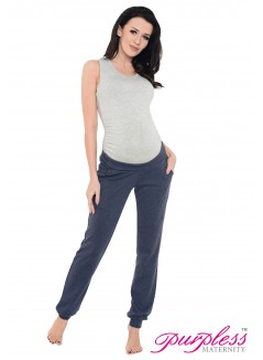 Pregnancy Trousers 1314 Navy Melange