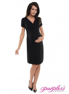 Pregnancy and Nursing Dress 7208 Black