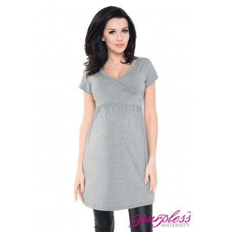 Tunic V-neck 5058 Dark Gray Melange