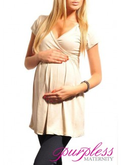 Tunic V-neck 5058 Beige