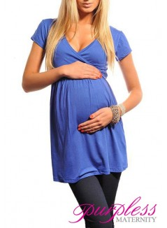 Tunic V-neck 5058 Royal Blue