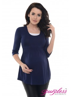 Marvellous Maternity Top 5200 Navy