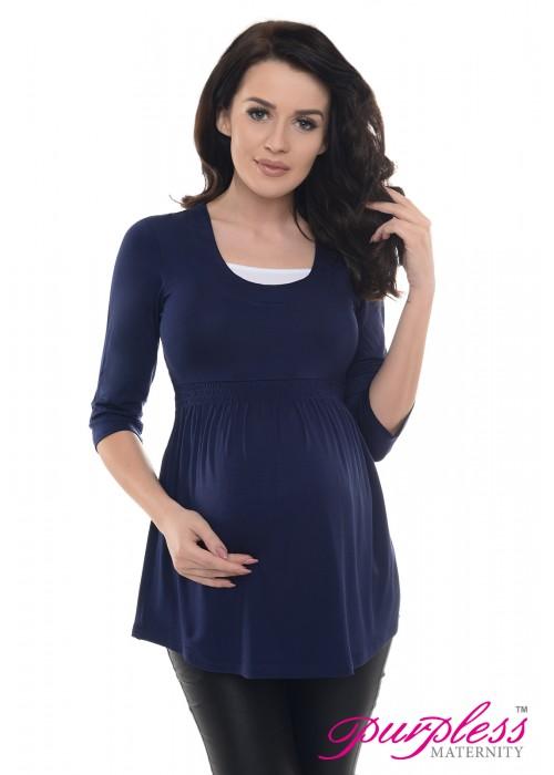 Marvellous Maternity Top 5200 Navy