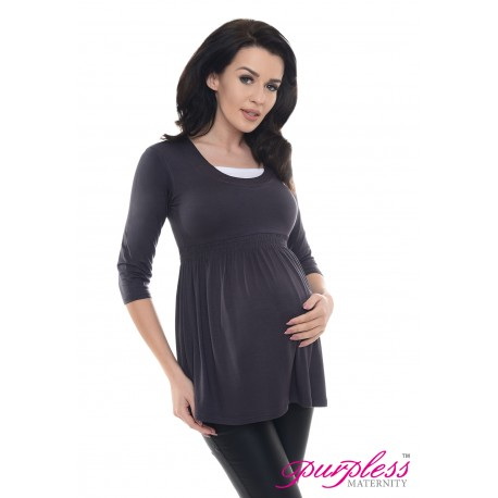 Marvellous Maternity Top 5200 Graphite