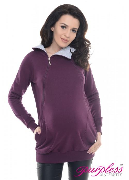 Pregnancy and Nursing Hoodie 9052 Plum
