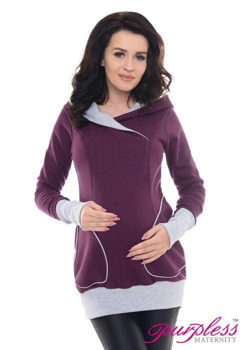 2in1 Nursing Hoodie 9056 Plum