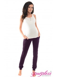 Pregnancy Trousers 1307 Plum