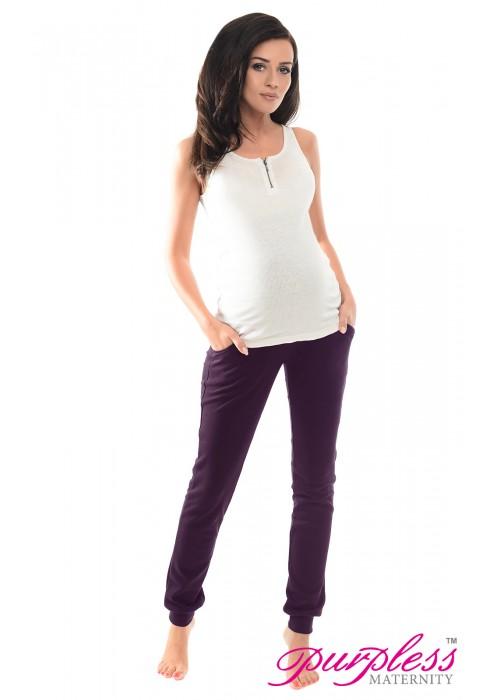 Pregnancy Trousers 1307 Plum